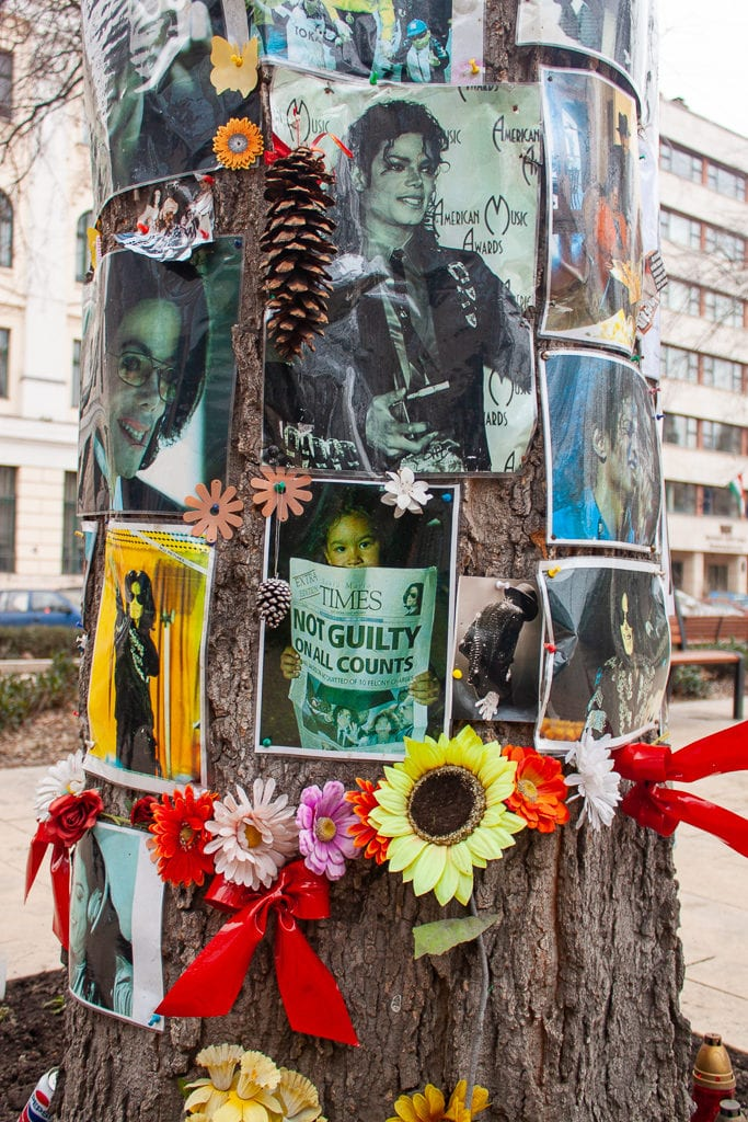 Michael Jackson Memorial Tree Budapest - Memorabilia