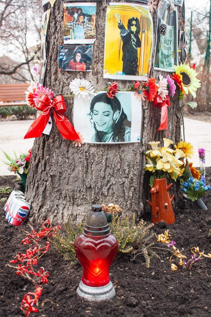 Michael Jackson Memorial Tree Budapest - Photos & Candles