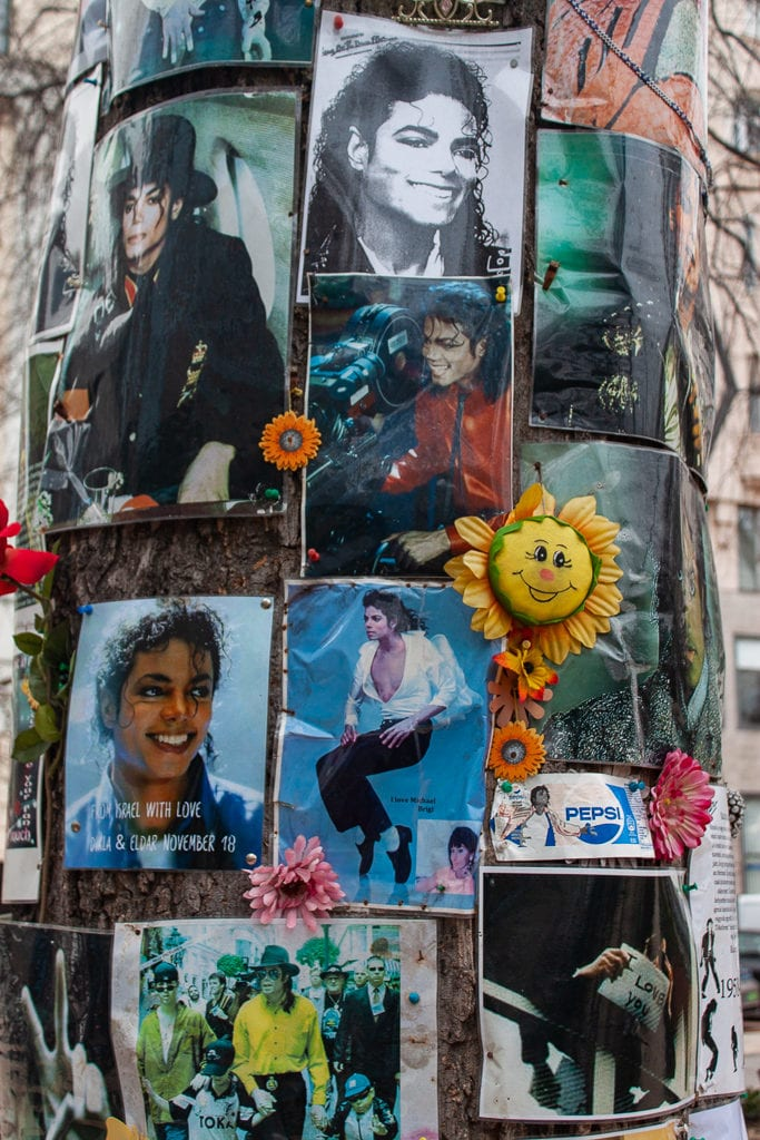 Michael Jackson Memorial Tree Budapest - Photos & Flowers