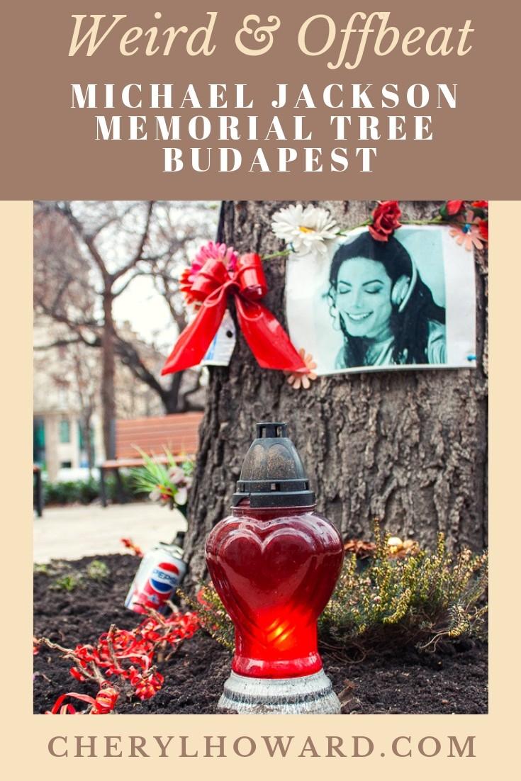 Michael Jackson Memorial Tree Budapest Pin