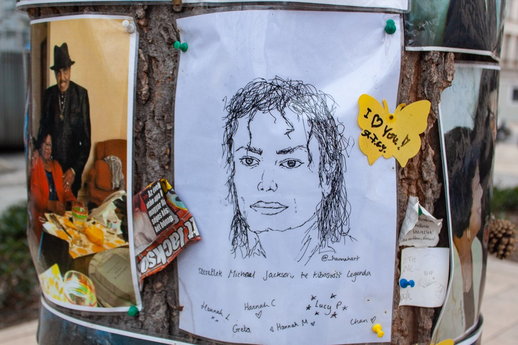 Michael Jackson Memorial Tree Budapest - Sketches