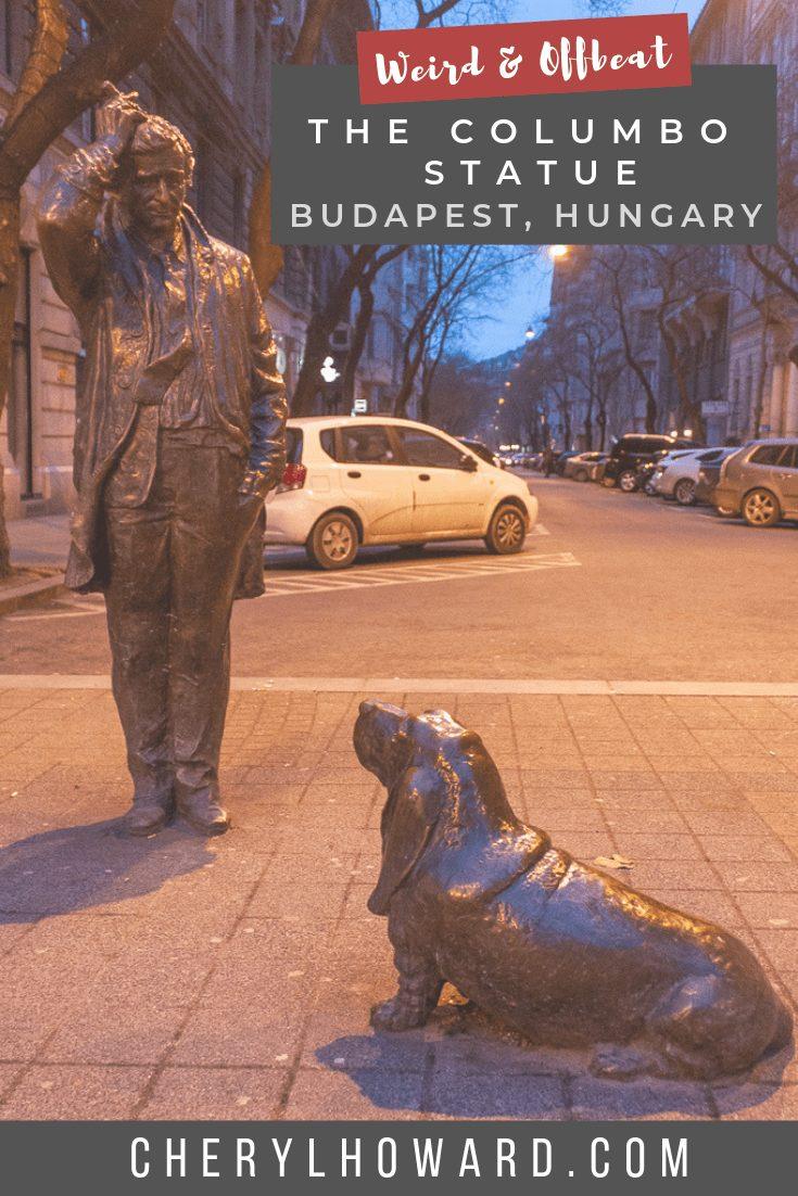 Columbo Statue Budapest - Pin