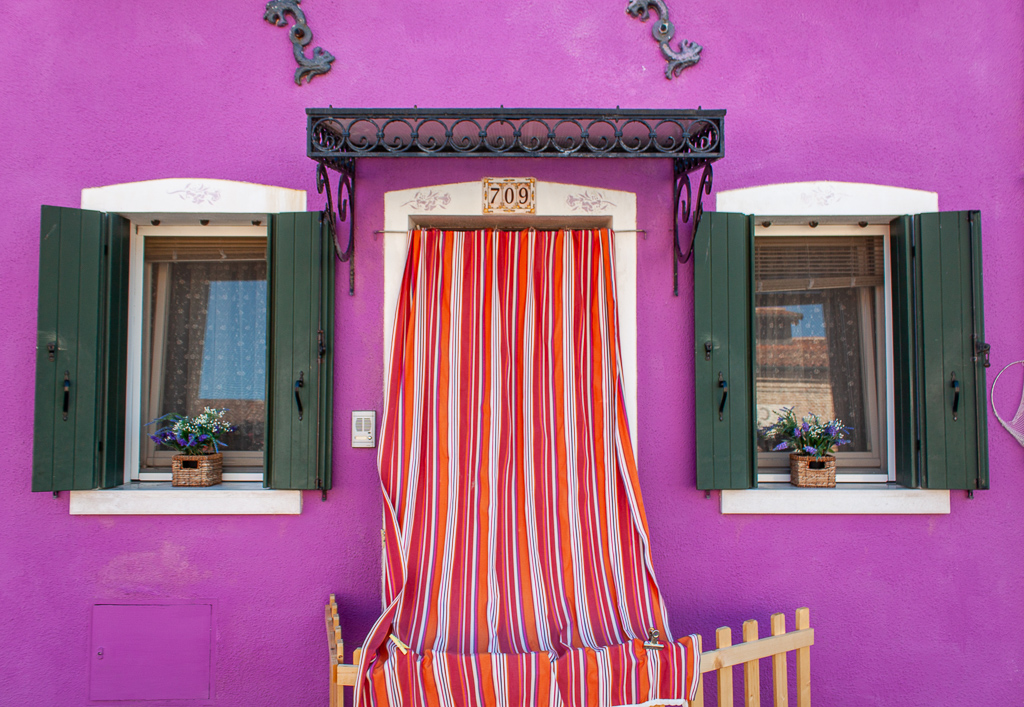 Visit Burano Italy - Bright Purple