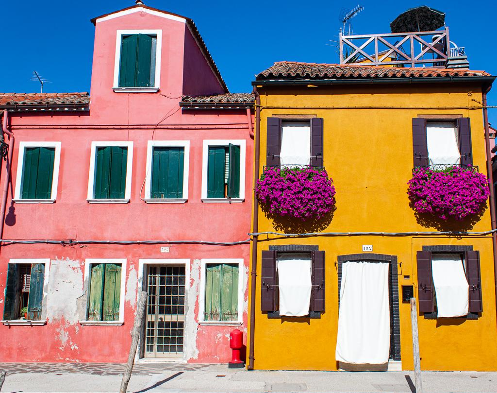 Visit Burano Italy - Pink & Yellow