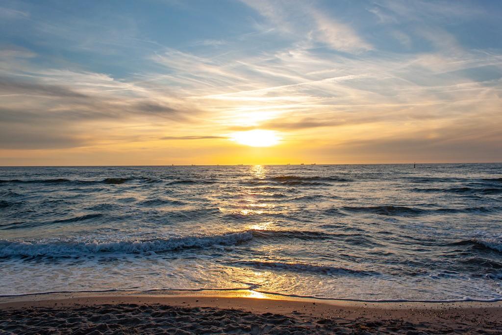 Warnemünde Strand Sunset