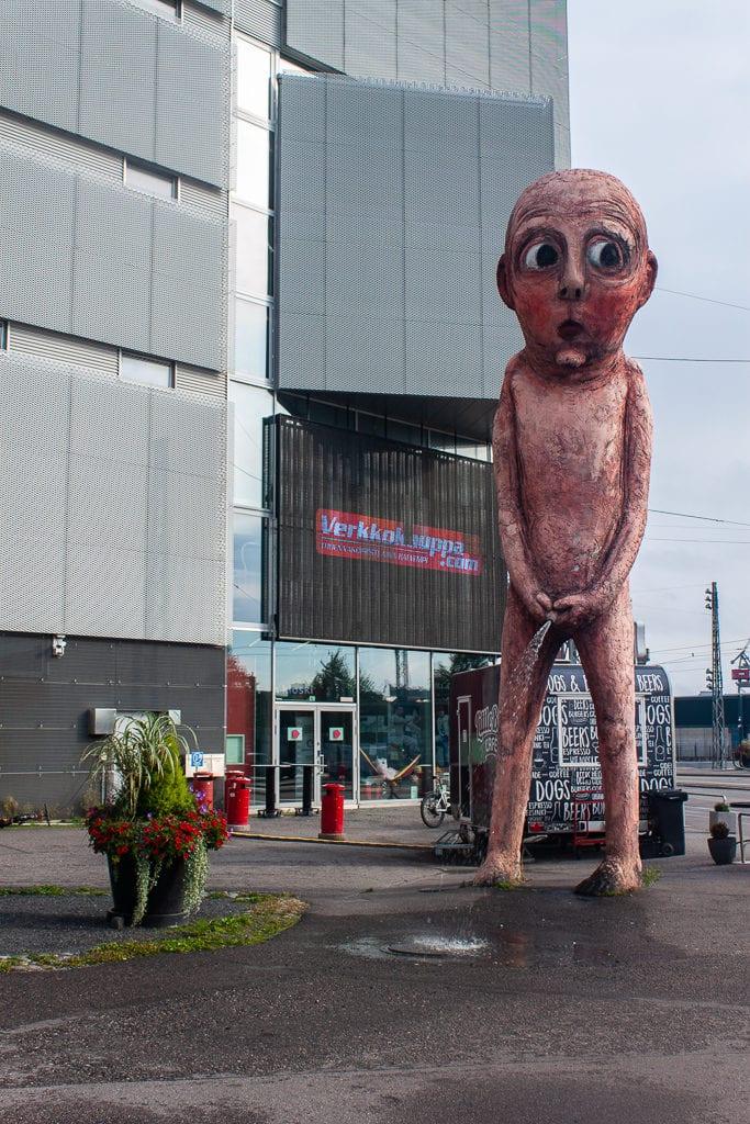Bad Bad Boy Statue Helsinki - Pissing Boy Statue