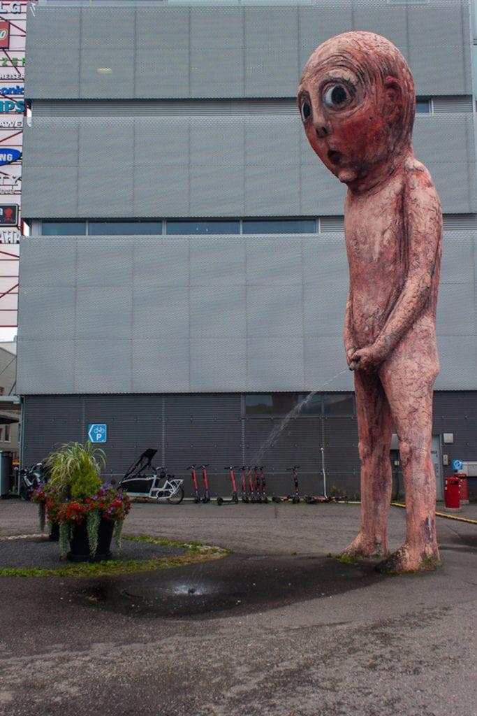 Bad Bad Boy Statue Helsinki - Side View