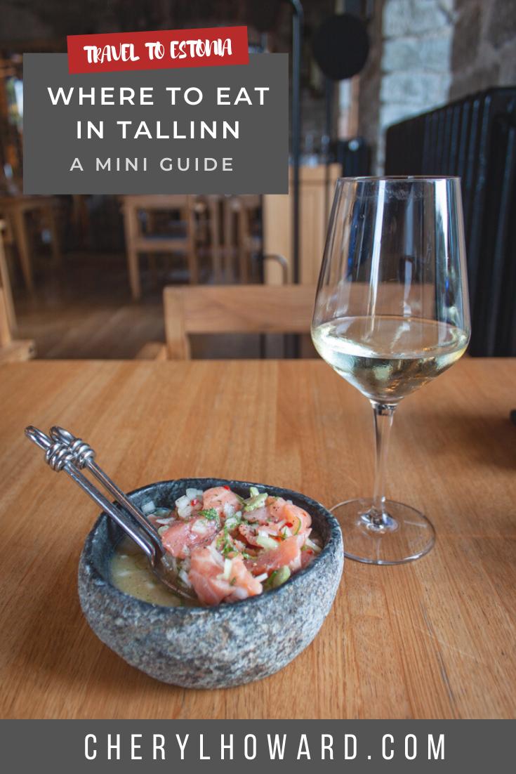 Where To Eat In Tallinn Estonia - Pin