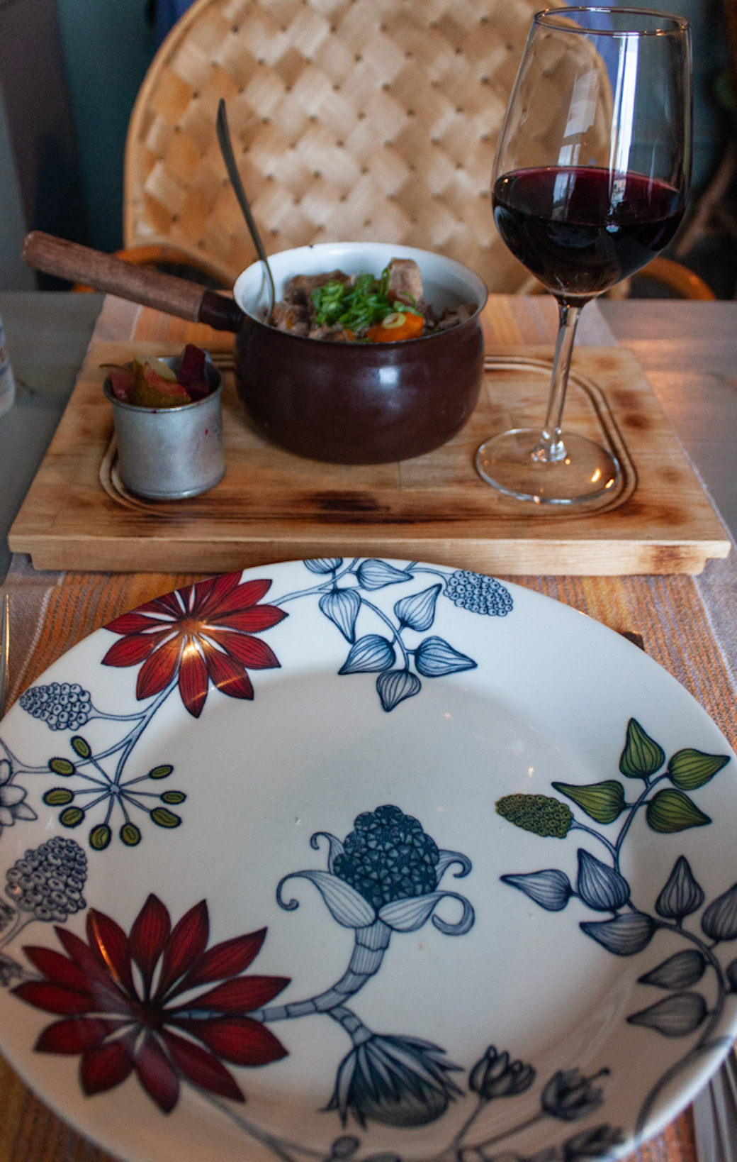 What To Do In Helsinki - Restaurant Savotta Beef Stew and Red Wine