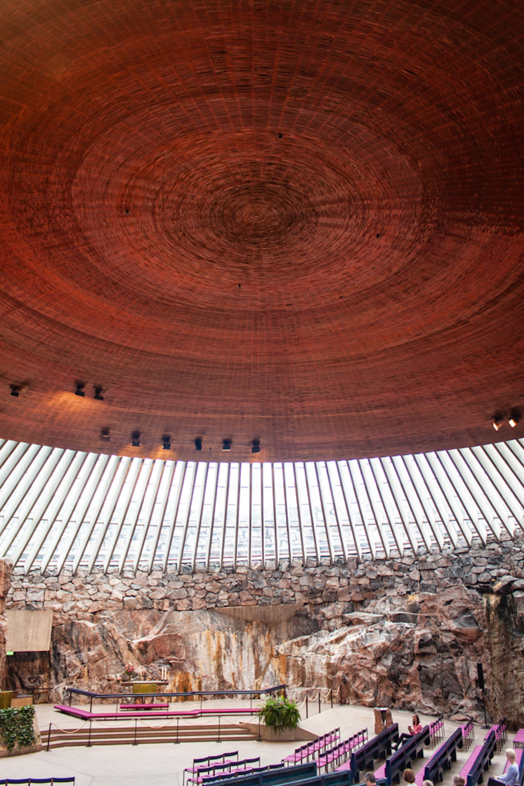 What To Do In Helsinki - Temppeliaukio Church Ceiling