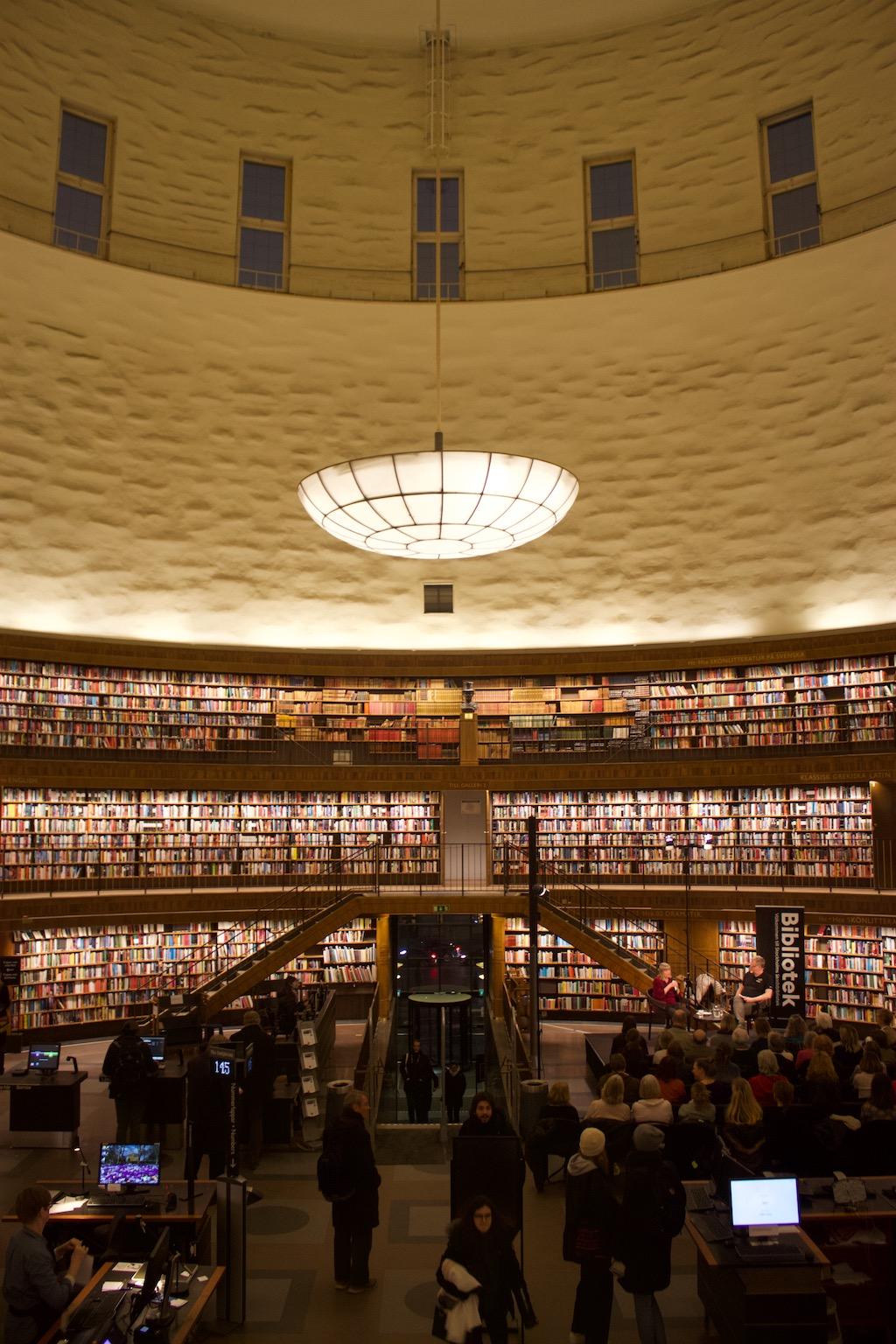 Stockholm Public Library - Rotunda and Windows