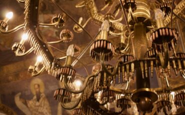 Ružica Church Belgrade - Bullets Chandelier