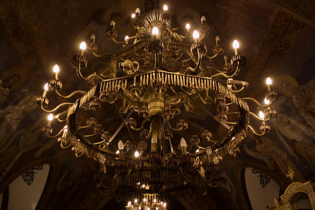 Ružica Church Belgrade - WW1 Weapons Chandelier