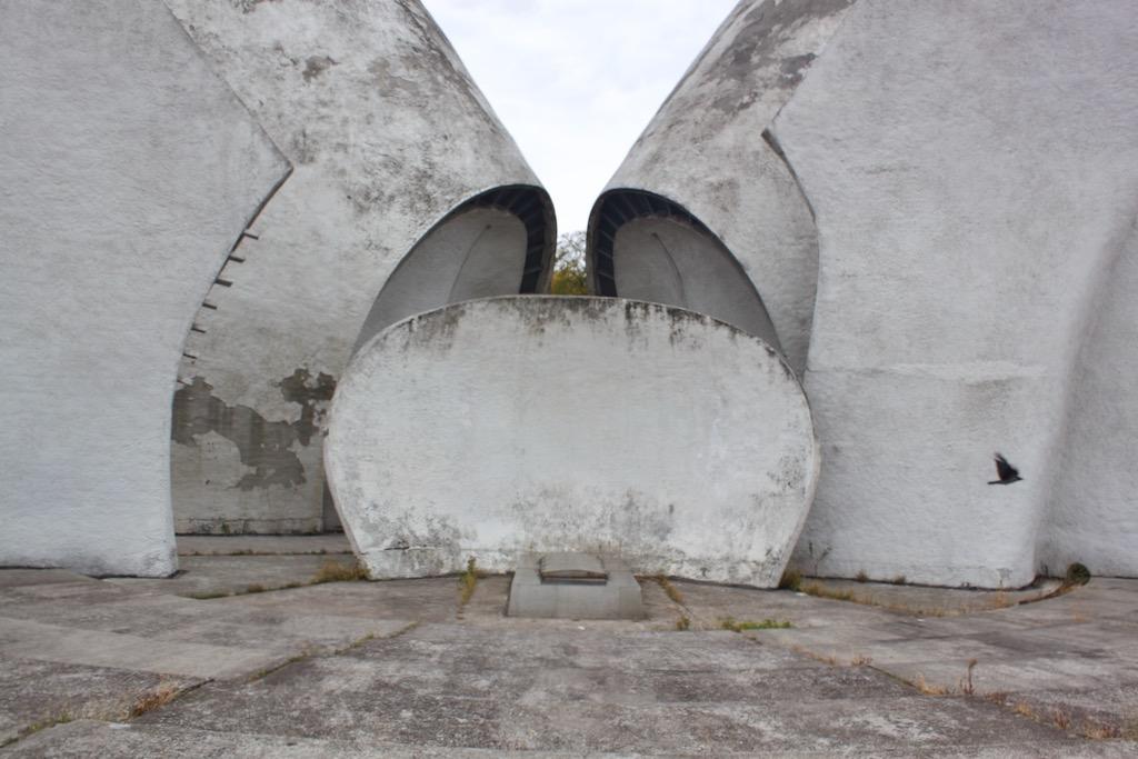 Kyiv Ukraine Crematorium - Closeup