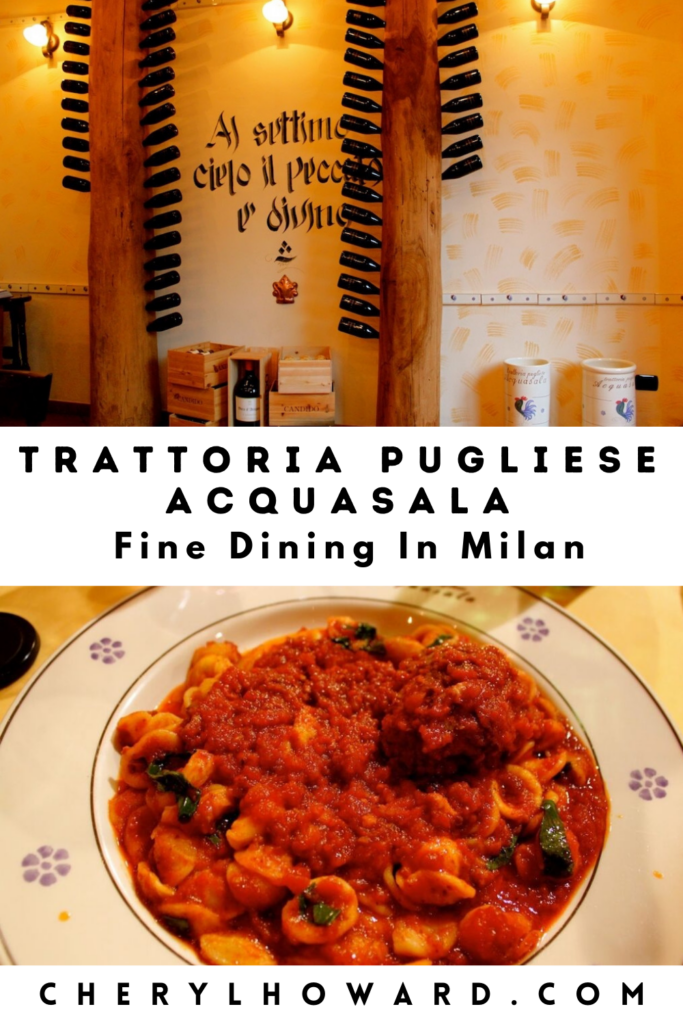 Trattoria Pugliese Acquasala Milan - Pin cherylhoward.com