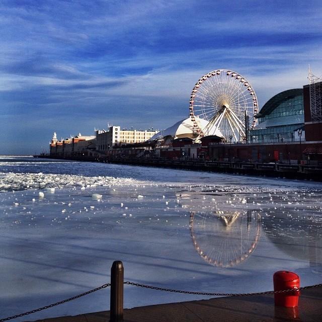 Navy Pier Chicago Winter Day