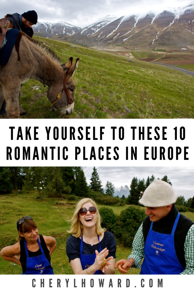 Romantic Places in Europe - Pin