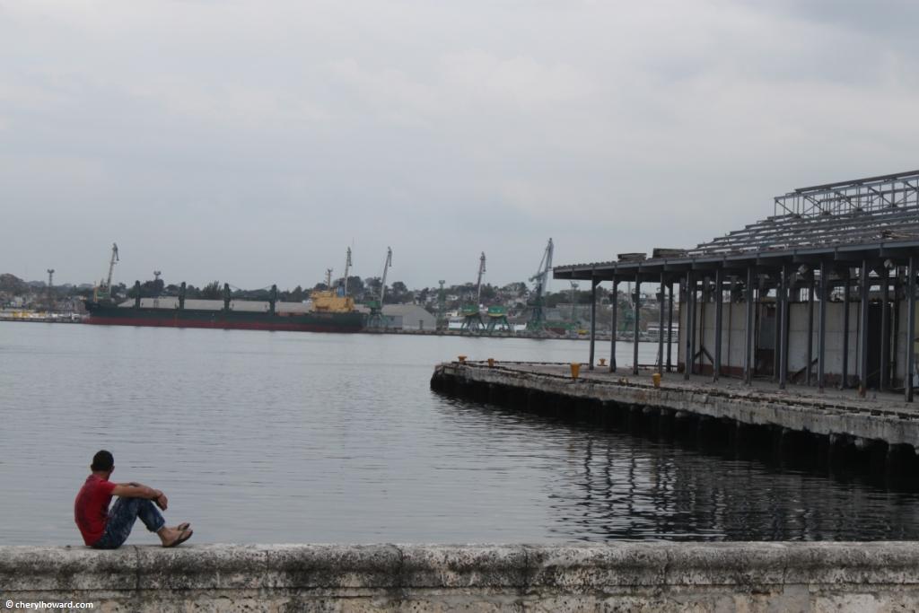 El Malecón In Havana - Boy Deep In Thought