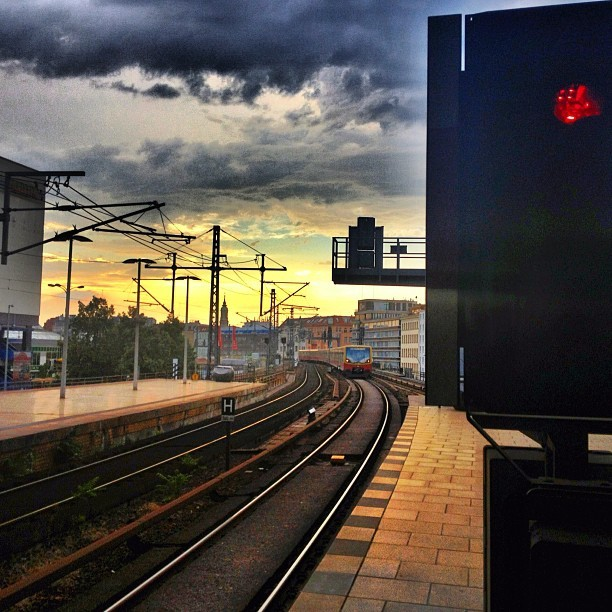Berlin Public Transit Sunset