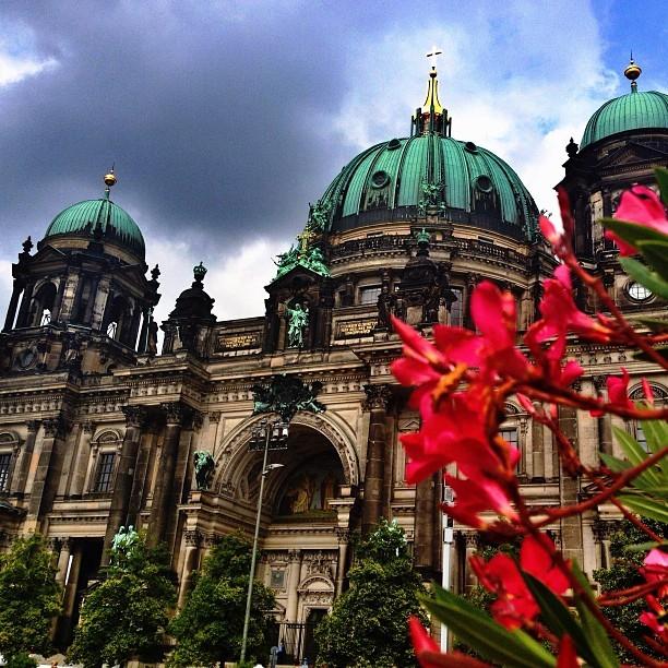 Berliner Dom Mit Flowers