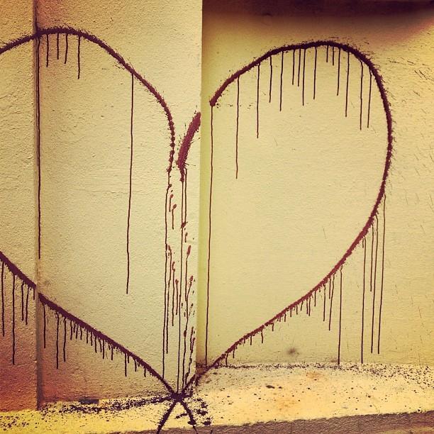 Bleeding Heart Berlin Street Art