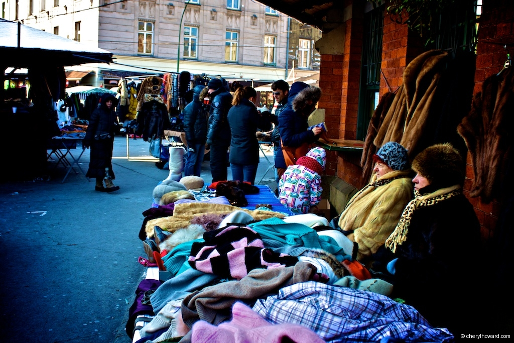 The Plac Nowy Jewish Market Winter Fashion Items