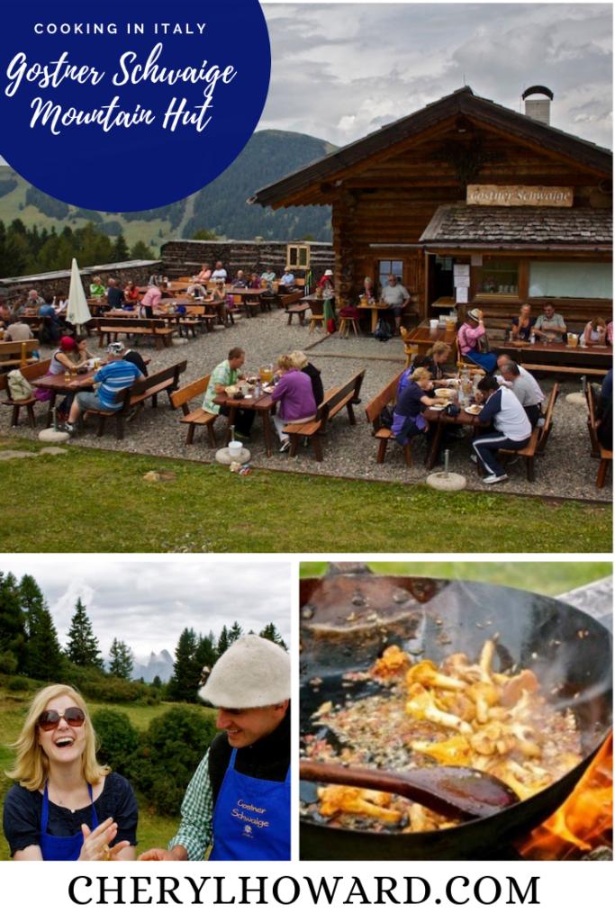 Gostner Schwaige Mountain Hut In Italy - Pin