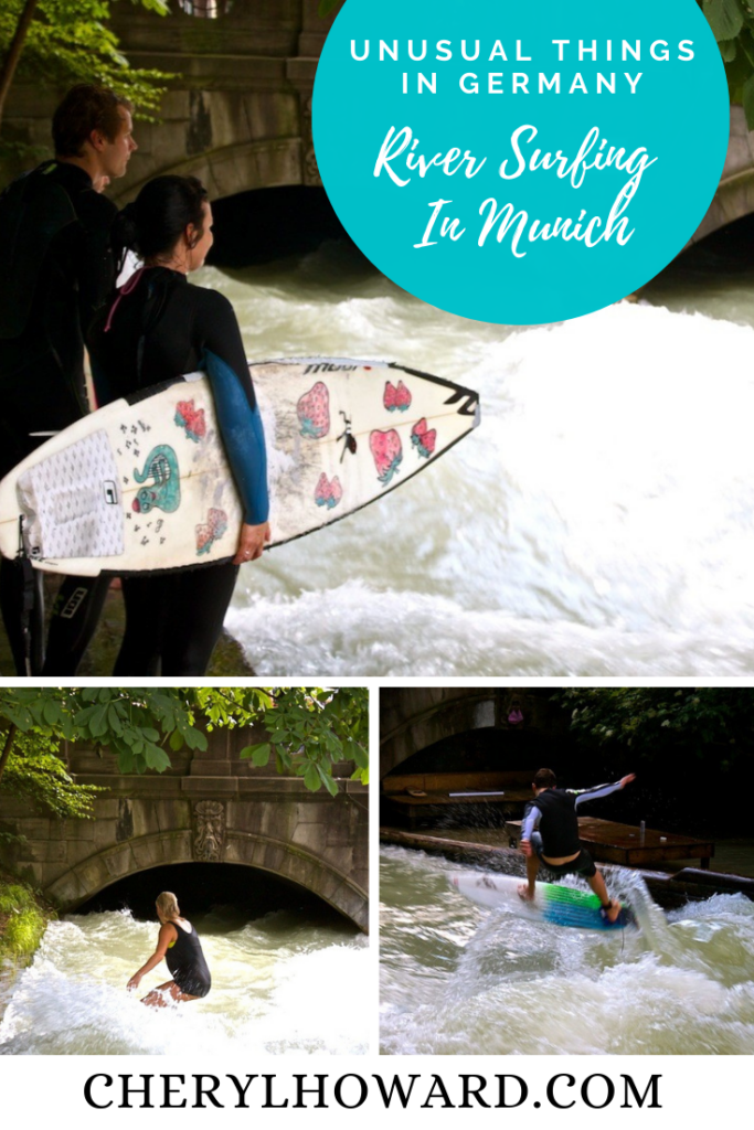 River Surfing in Munich Germany - Pin