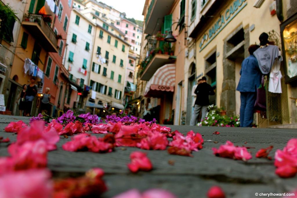 The Day Of San Giovanni Battista In Riomaggiore, Italy Flowers