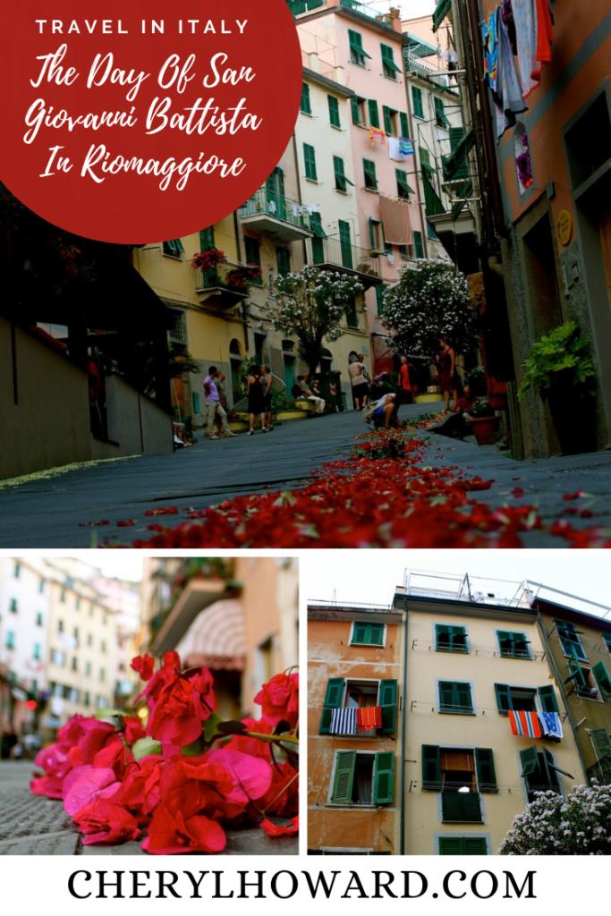 The Day Of San Giovanni Battista In Riomaggiore, Italy - Pin