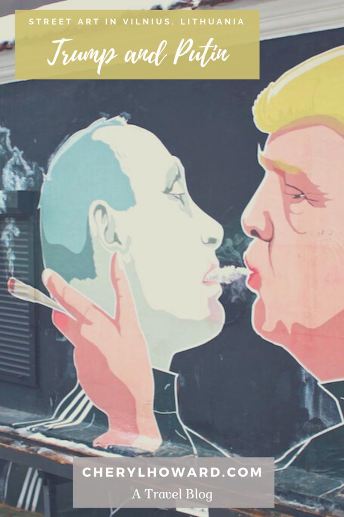 Trump & Putin Street Art In Vilnius - Pin