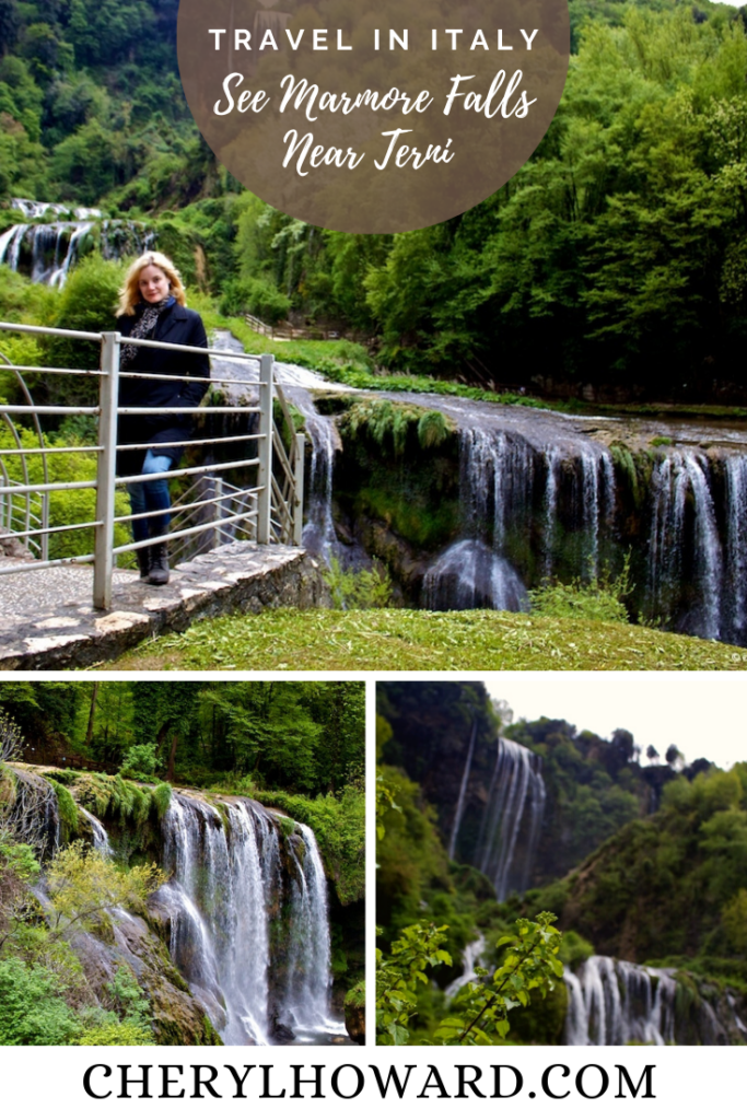 Marmore Falls Italy - Pin