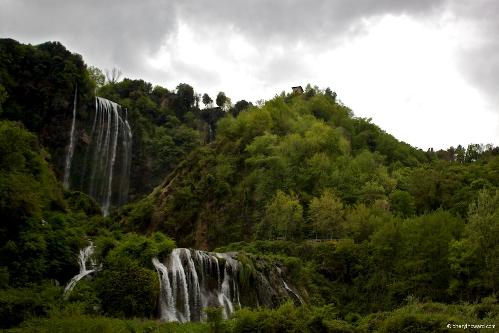 Marmore Waterfalls Cloudy Day