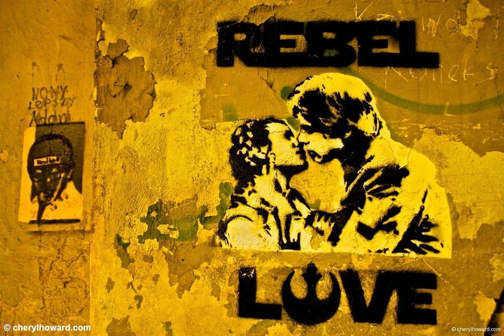 Street Art In Krakow - Rebel Love