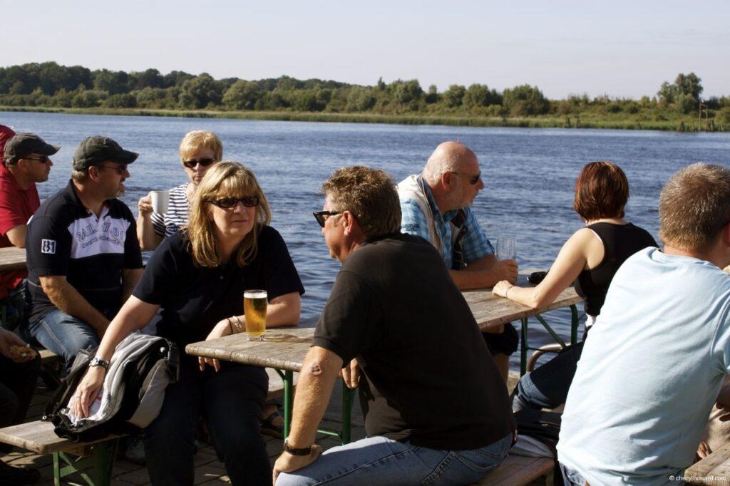 Hanse Sail In Rostock Market - People Drinking Beer
