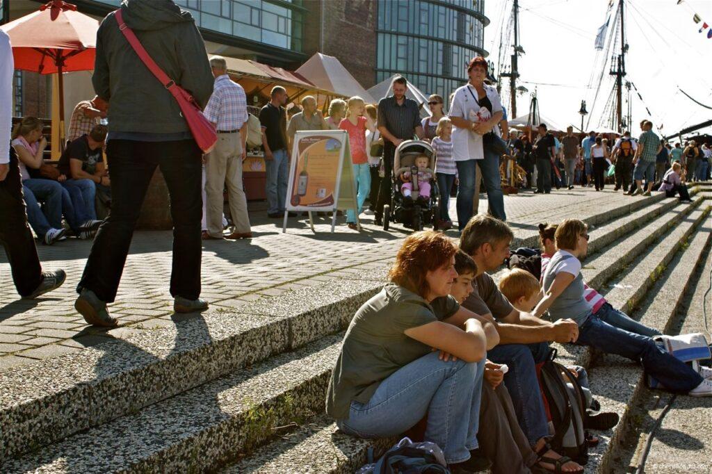 Hanse Sail In Rostock Market - People Having Fun