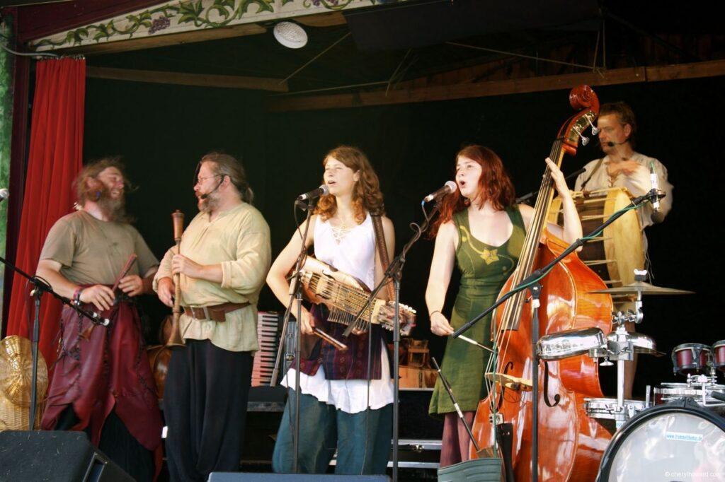 Hanse Sail In Rostock Market - Viking Band Performing