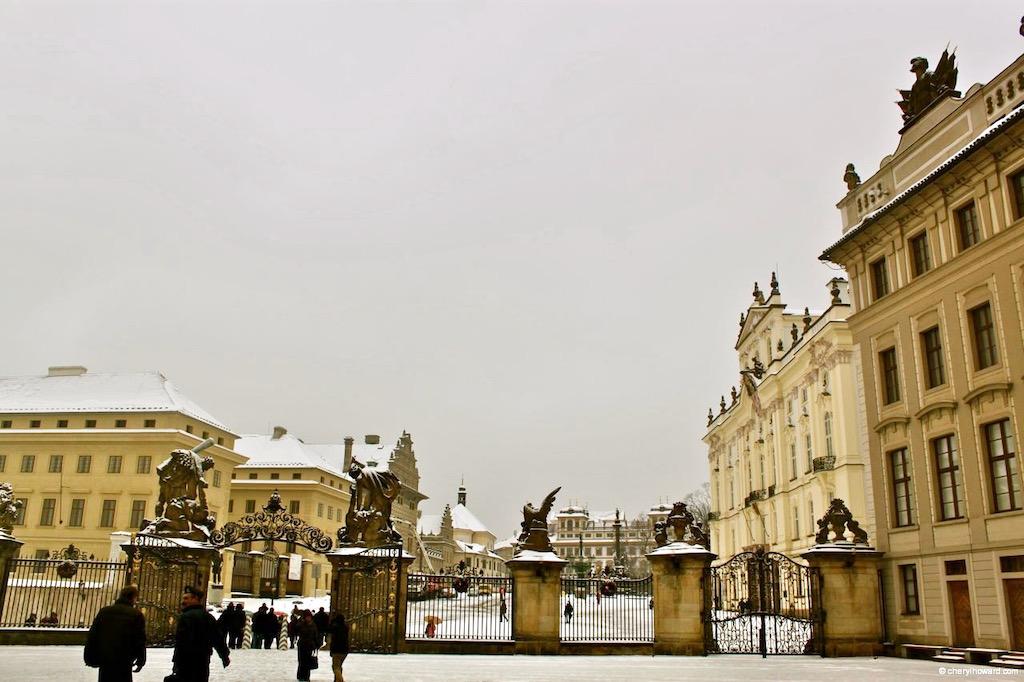 Prague Castle Winter Scene
