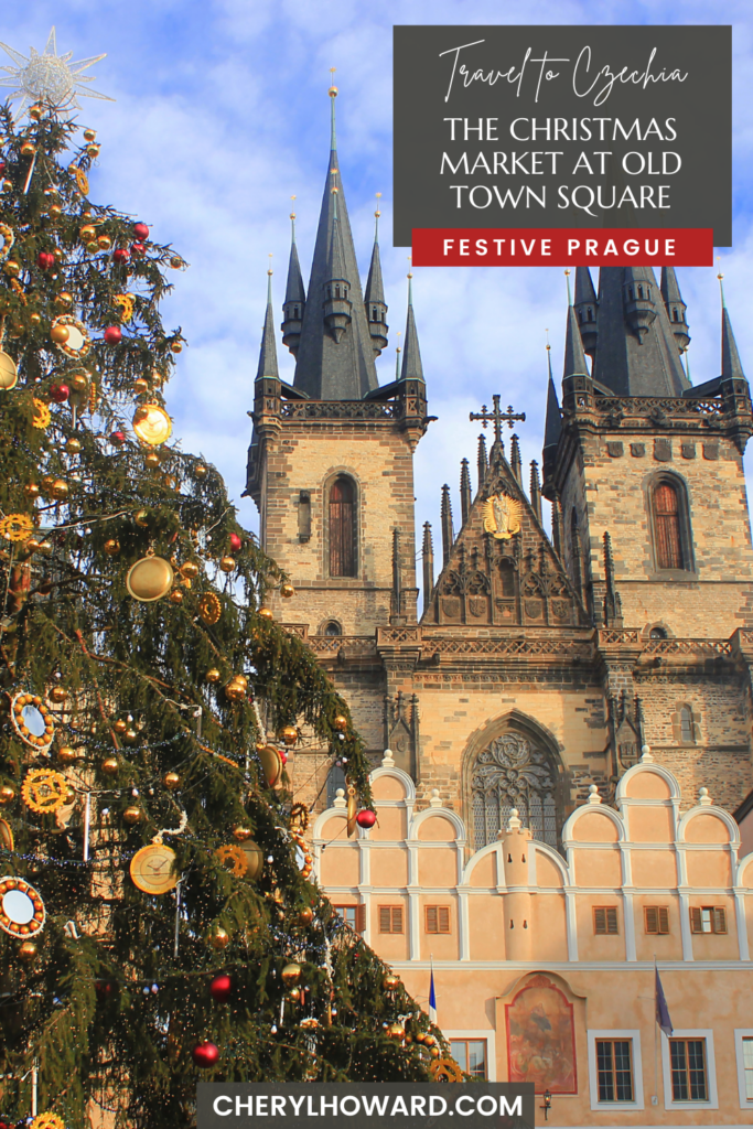 The Christmas Market At Old Town Square In Prague - Pin