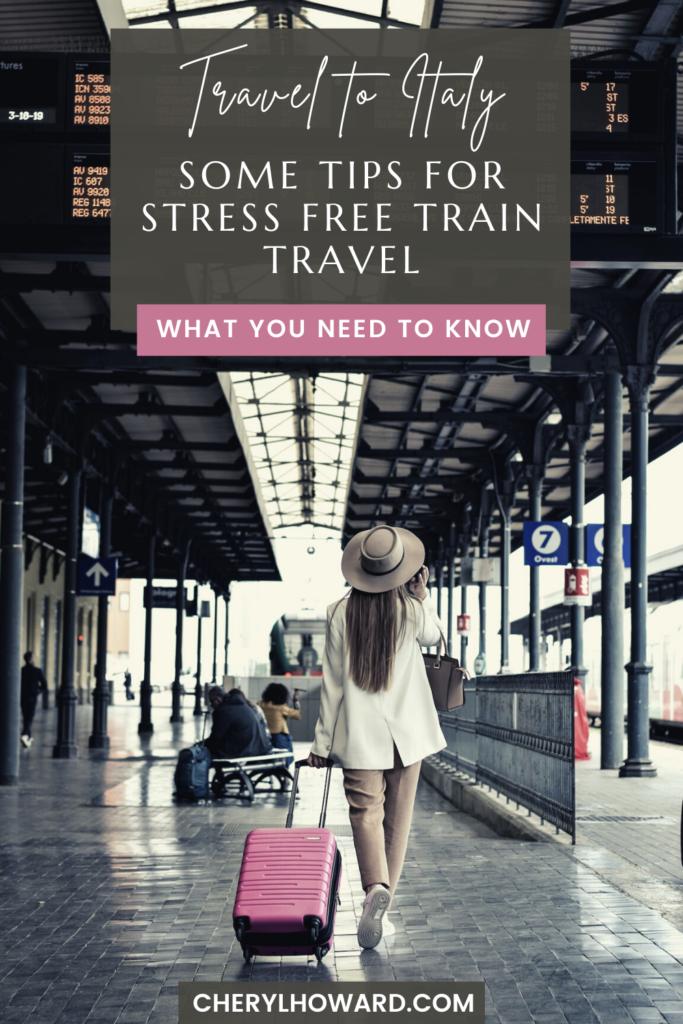 Train Travel In Italy - Pin