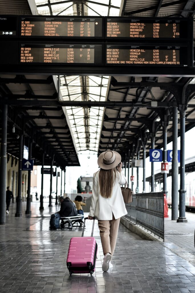 Train Travel In Italy - Woman Solo