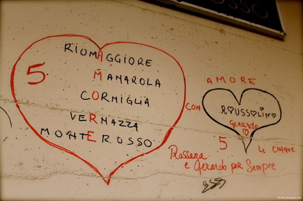 Via dell'Amore (Way of Love) - Hearts