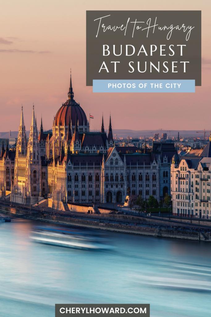 Budapest Sunset - Pin