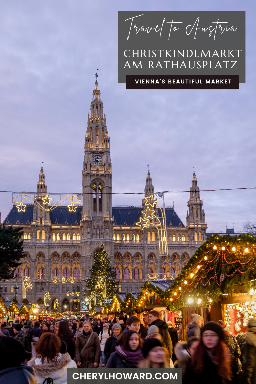 Christkindlmarkt am Rathausplatz In Vienna - Pin