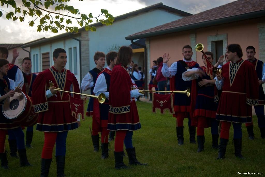 Flag Wavers And Musicians In Città della Pieve Practice