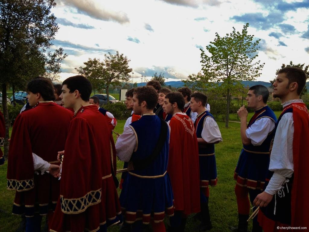 Flag Wavers And Musicians In Città della Pieve Team