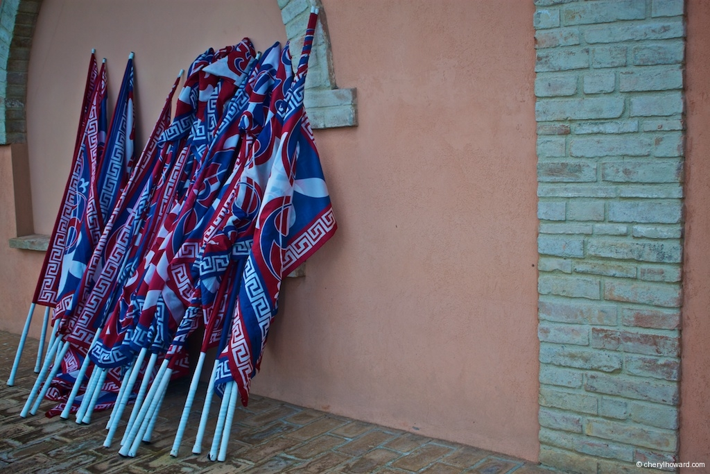 Flag Wavers And Musicians In Città della Pieve